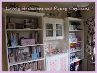 BOOK CASES AND FANCY CUPBOARD