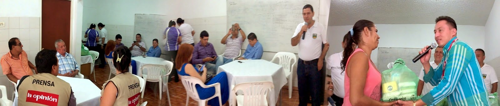Video | Junta Comunal de Chapinero-Cúcuta ofrece desayuno a periodistas y entrega mercados a personas necesitadas