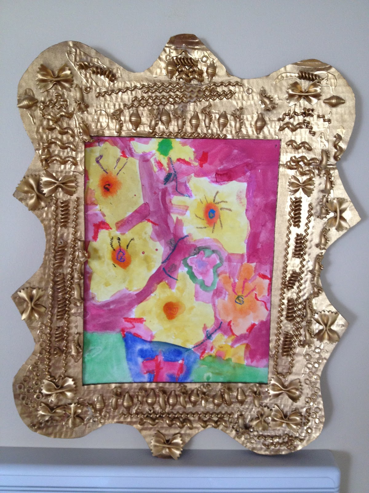 Handmade mothers day gifts or diy earth day craft diy noodle handmade mothers day gifts or diy earth day craft diy noodle frame jeuxipadfo Images