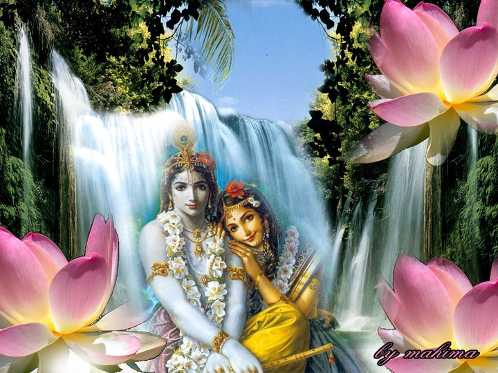 Shri Radhe Radhe Lord Krishna Wallpaper