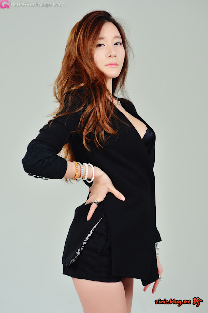 2 Han Ji Eun in Black -Very cute asian girl - girlcute4u.blogspot.com