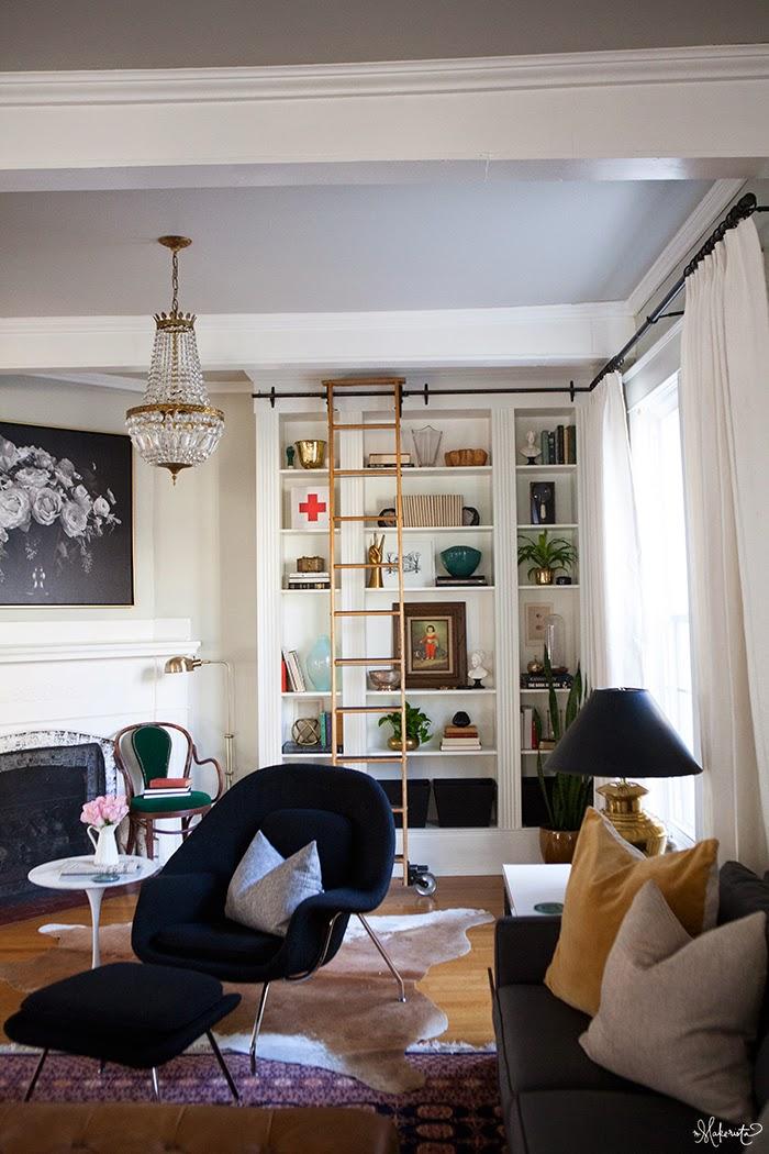 The makerista laura 39 s living room ikea billy bookshelves for B q living room shelves