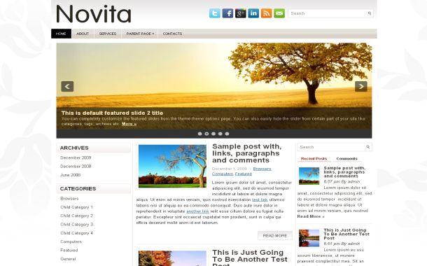 Free Floral Chrome Fresh Jquery Wordpress Theme