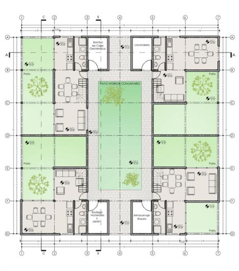 Presentacion digital avanzada de proyectos ejemplos for Ejes arquitectonicos