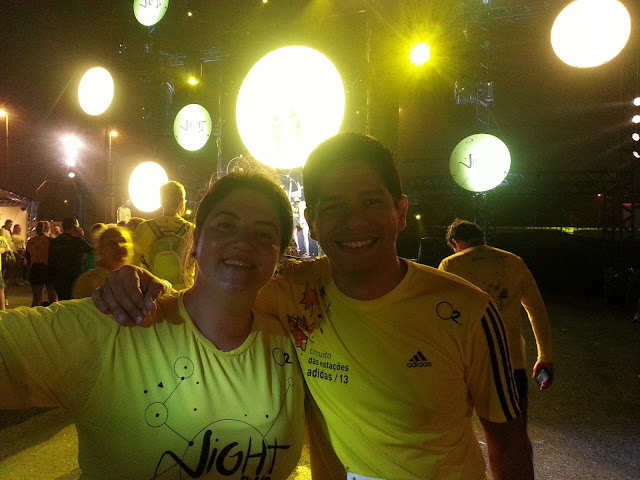 Claudia Nuzzo e Eu na Night Run