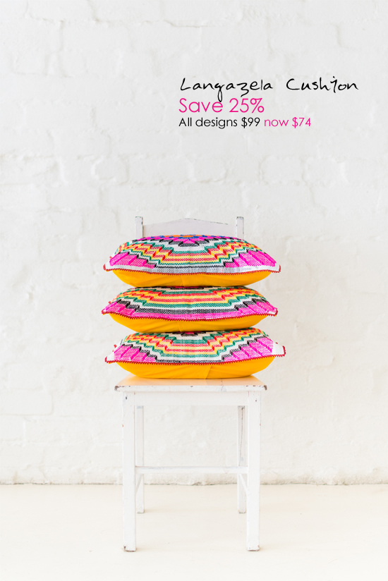 Safari Fusion blog | Safari Fusion annual SALE! | Save 25% on our Langazela Cushions www.safarifusion.com.au