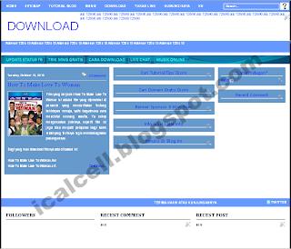 Template Blogspot Blue Style 3 Kolom