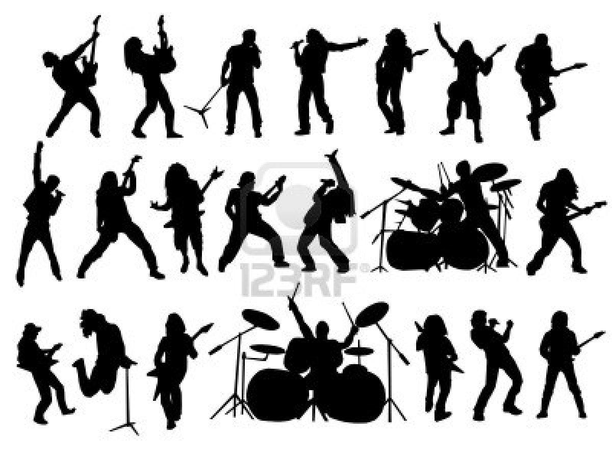 Rock Band Silhouette Vector Photos Rock Band Silhouette