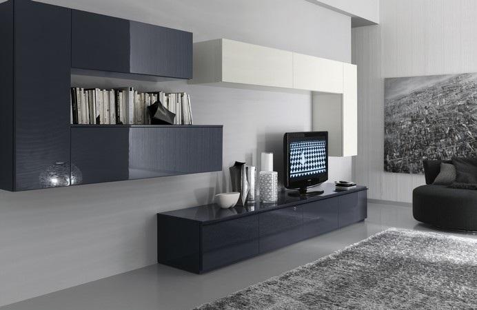 Furniture interior design compositions by modern for Soggiorno moderno grigio e bianco