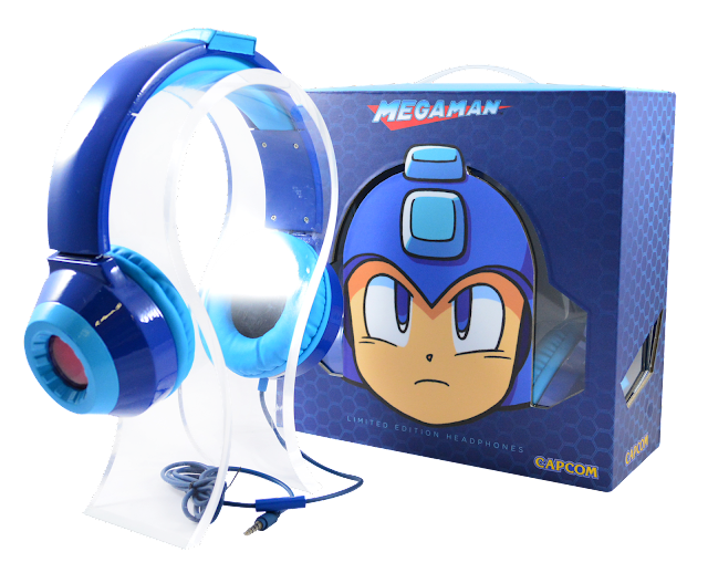 Estos 'cascos' azules te convierten en un auténtico Mega Man... de pega
