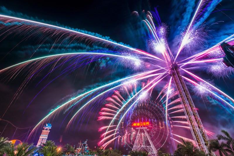 (已補影片) 2015劍湖山跨年晚會 最長的煙火秀610秒 推全台獨家「雙環煙火秀」