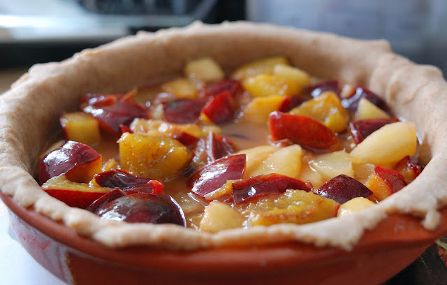plum and pear pie easy recipe