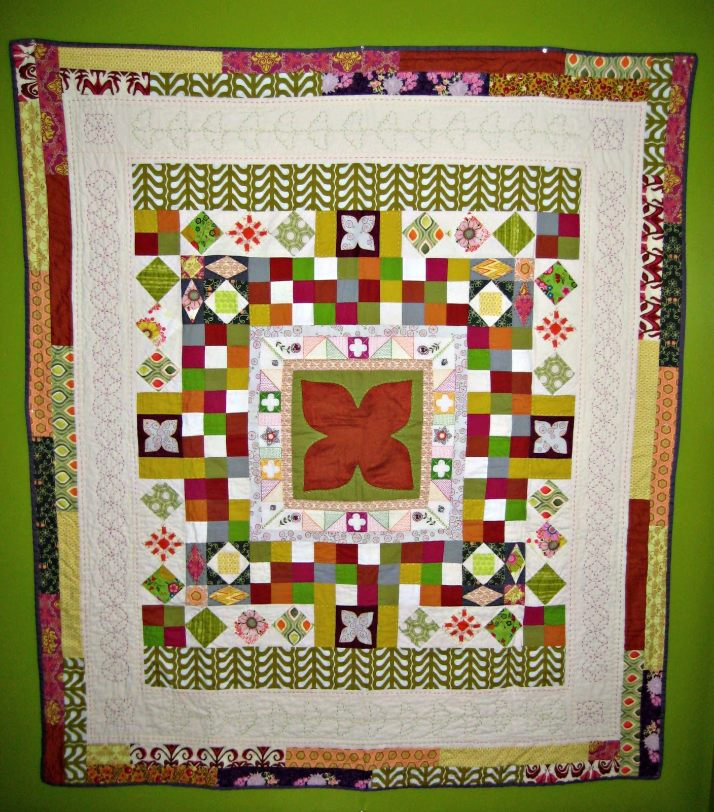 stitchin medallion quilt p bom home at