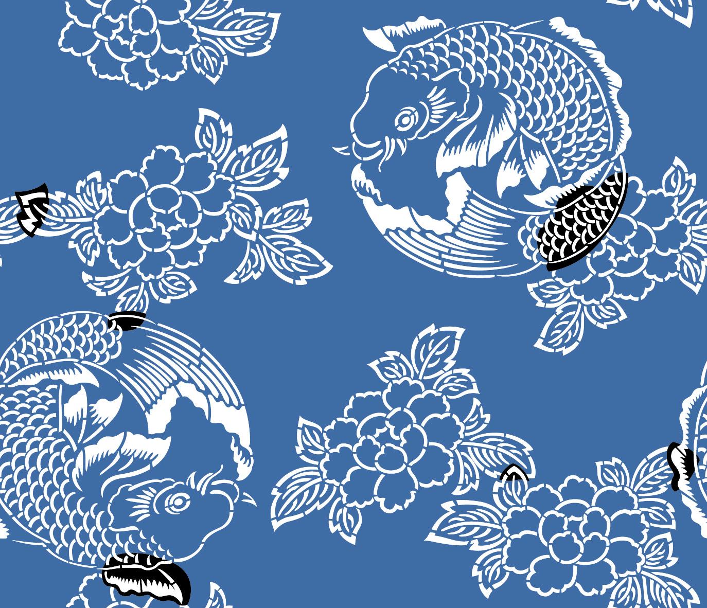 Japanese carp wallpaper wallpaper for Koi fish patterns