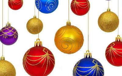 Fondo de pantalla con las Bolas de Navidad
