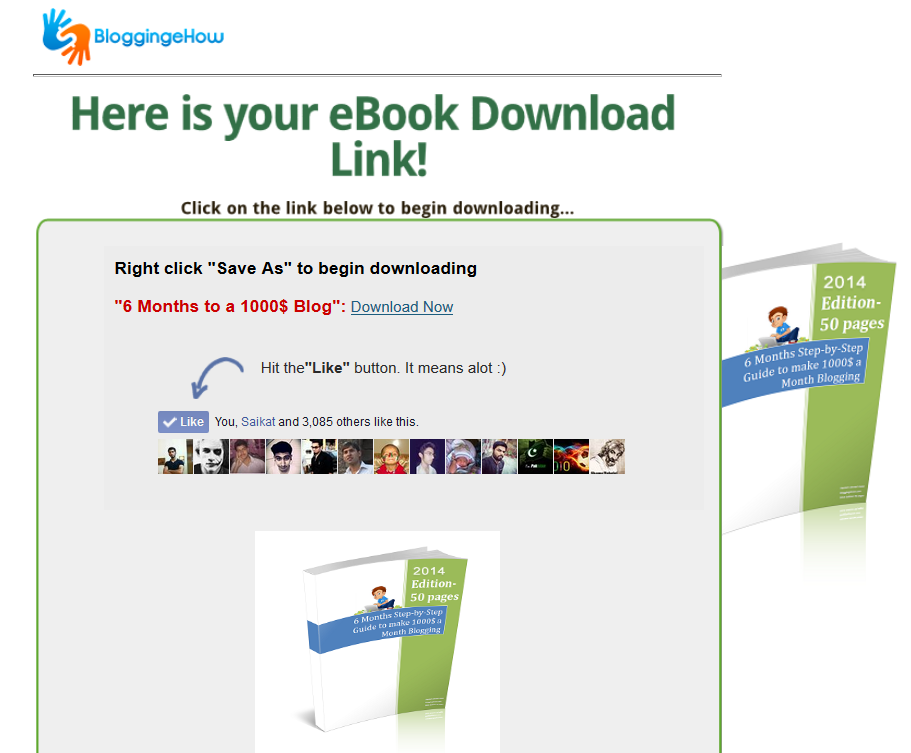 download page bloggingehow