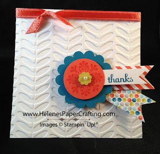 Vine Street Embossing Folder Thanks Card