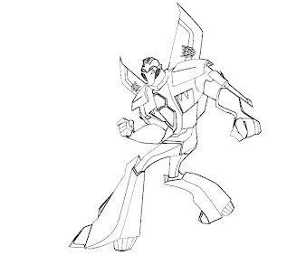 #1 Transformers Coloring Page