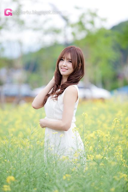 2 Choi Byeol Ha in White - very cute asian girl - girlcute4u.blogspot.com