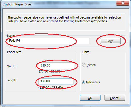 How to add custom paper size in Excel 2016 (mac)