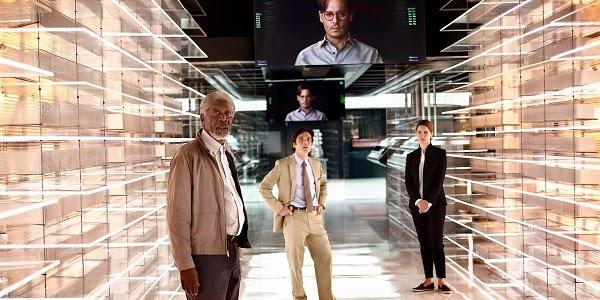 Morgan Freeman, Cillian Murphy, Rebecca Hall e Johnny Depp em TRANSCENDENCE - A REVOLUÇÃO (Transcendence)