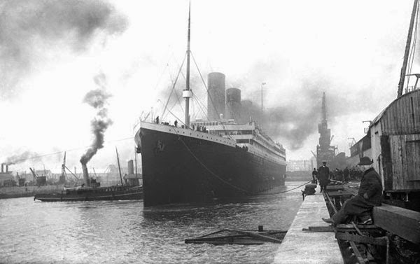 Rarest Historical Photos, That you can Never Forget. - Picture of Titanic leaving the port in the year 1912.
