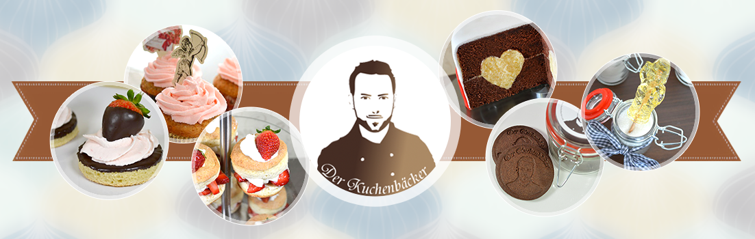 Header from the German food blog Der Kuchenbaecker