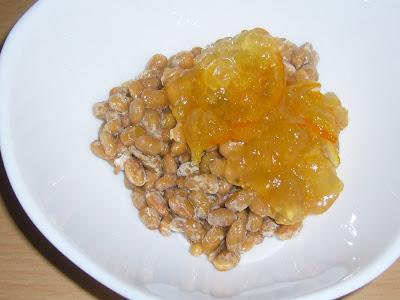納豆にオレンジママレード