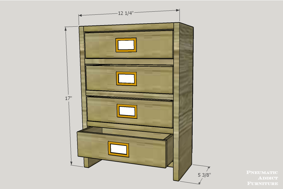 Pneumatic Addict : Counter-top Storage Drawer Building Plans