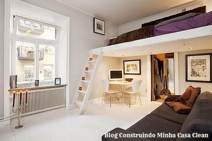 Construindo minha casa clean 27 quartos com mezanino veja dicas e ideias - Fotos de lofts decorados ...