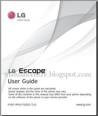 LG Escape 4G LTE Manual Cover