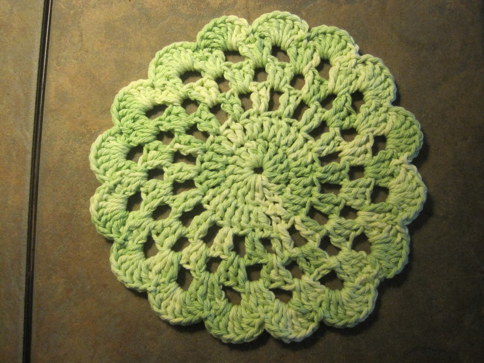 Free Crochet Patterns Using Sugar And Cream Yarn : Stitches, Scraps and Sparkles in the Sun: Dishcloth, Yarn ...