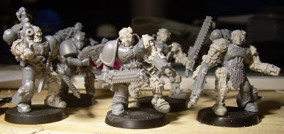 lobotimized space wolves being used as Thousand Sons marines.