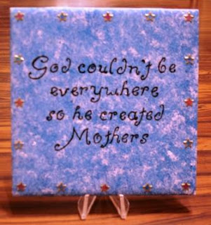 Painted inspirational quote tiles 1