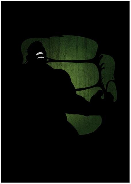 Lily's Factory ilustrações quadrinhos super heróis marvel dc sombras minimalistas Hulk