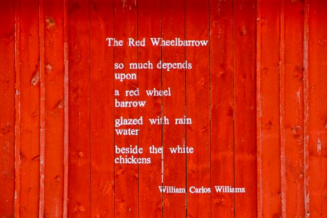 a poem on the barn wall