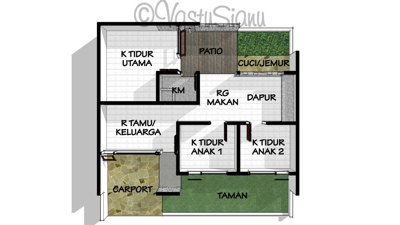 VastuSianu: Desain Rumah Sederhana di Lahan 10x10m2