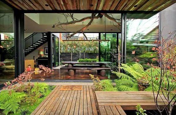 Hermosos Diseños de Jardines interiores