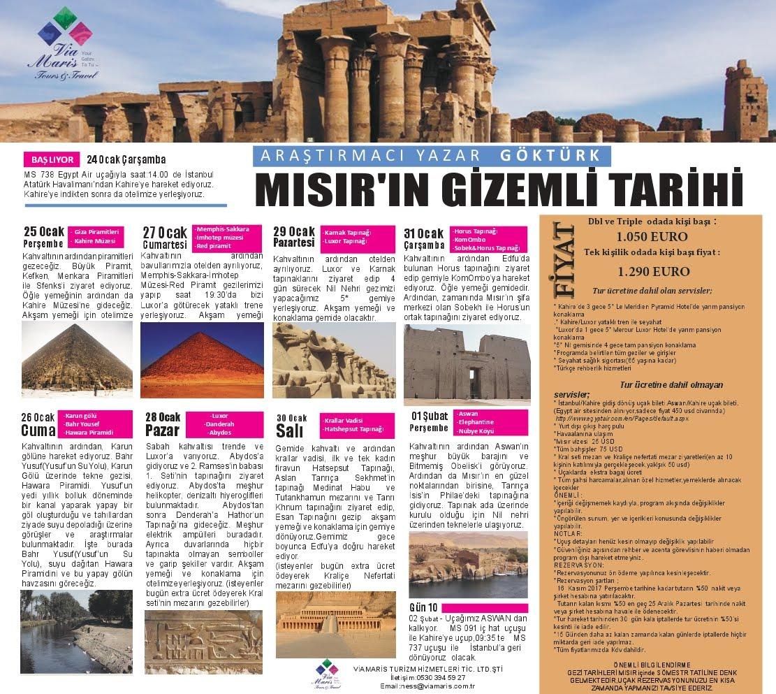 Gök Türk ile Mısır'ın Gizemli Tarihi Gezisi (24 Ocak - 2 Şubat Sömestr Tatili)