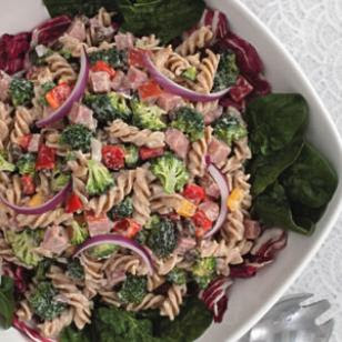Broccoli Ham and Pasta Salad