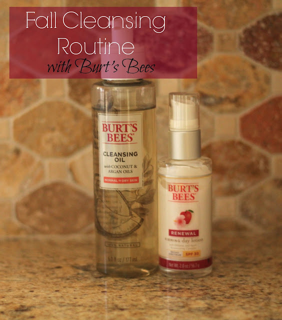 Burt's Bees cleansing oil and Renewal Firming Day Lotion
