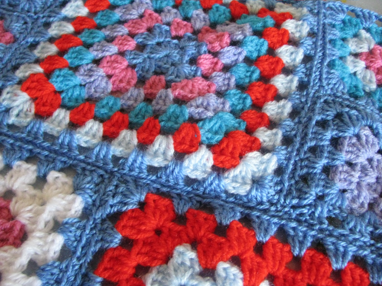 Crochet Granny Stitch : Shortbread & Ginger: Bright Crochet Granny Squares
