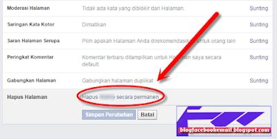 cara terbaru menghapus halaman fanspage facebook