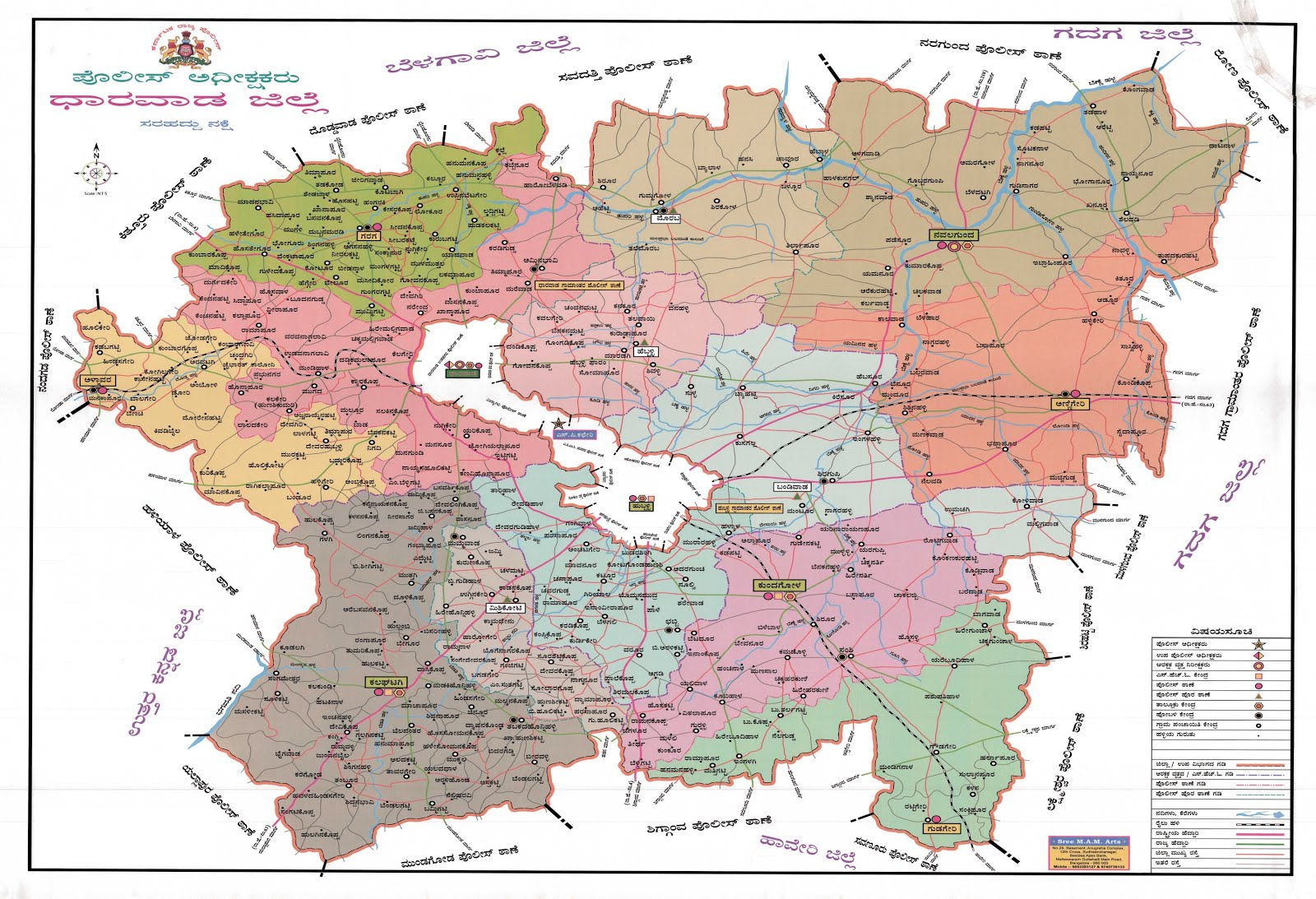 DHARWAD DISTRICT MAP