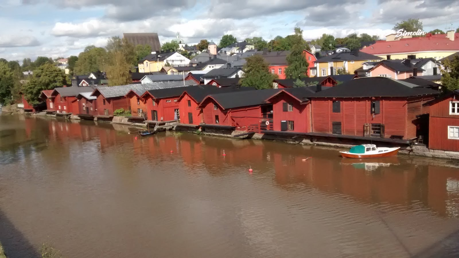Old storehouses in Porvoo, Finland