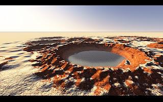 De acordo com um estudo publicado pela revista Nature Communications, um grupo de cientistas encontrou traços surpreendentemente recentes de água no planeta vermelho.  A descoberta, realizada graças à câmera HiRISE da Mars Reconnaissance Orbiter (MRO), da NASA, ocorreu em Istok, uma cratera de buracos bem definidos e com menos de um milhão de anos – e, por isso, a conclusão de que os rastros de água pertencem a um período recente. Isso amplia ainda mais o panorama do ciclo da água em Marte e poderia resultar em uma descoberta futura de traços de vida.