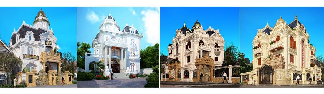 Thiết kế biệt thự kiểu Pháp - Thiết kế cổ điển Châu Âu sang trọng