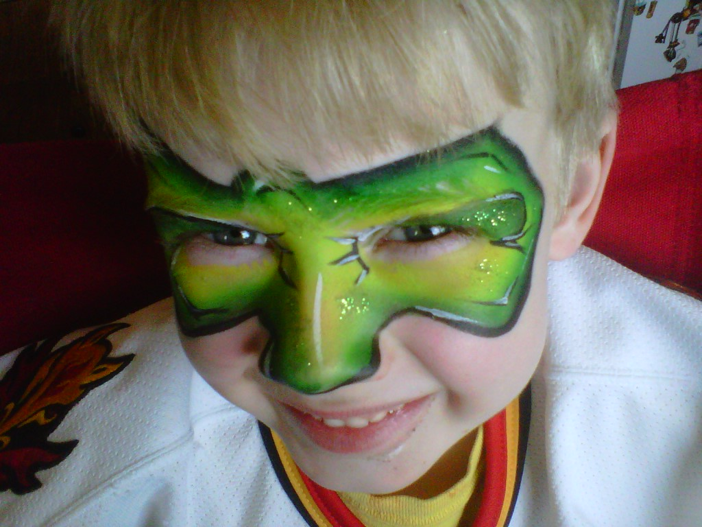 Green lantern mask face paint - photo#1