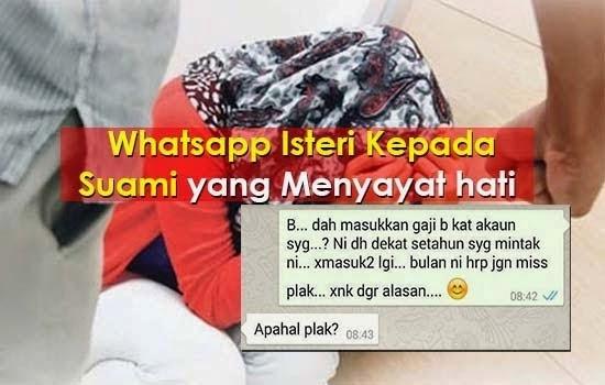 WhatsApp Suami Isteri Yang Menyayat Hati, info, terkini, sensasi, viral,