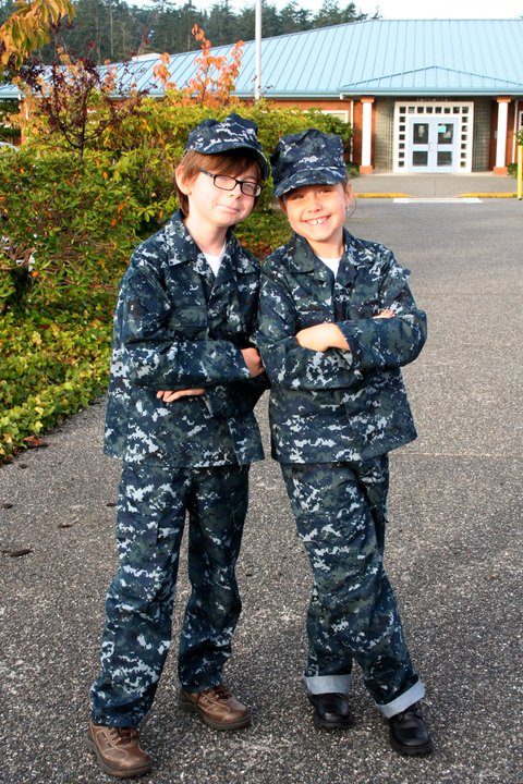 My Navy Kids dressed as their Hero, Daddy